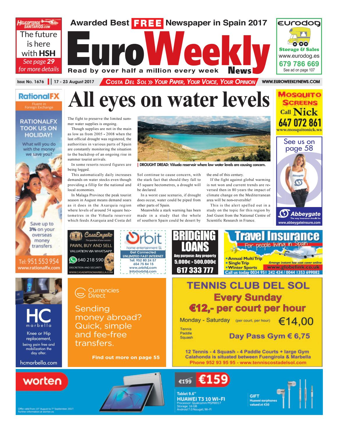 Euro Weekly News - Costa del Sol 17 – 23 August 2017 Issue