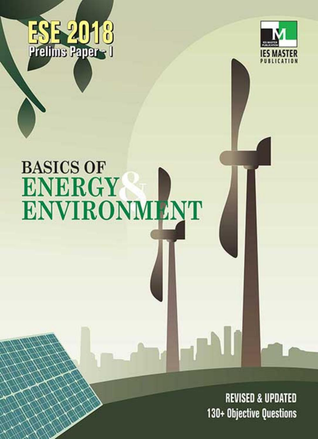 L 01 BASICS OF ENERGY AND ENVIRONMENT    ESE PRELIMS …