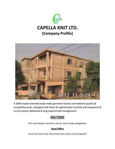 Fashion Resources: Capella Knit Ltd by Hasan Zaman - issuu
