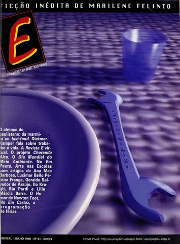 Revista E - Julho de 1996 - ANO 3 - Nº 1 by Sesc em São Paulo - issuu 6b229b6141ed1