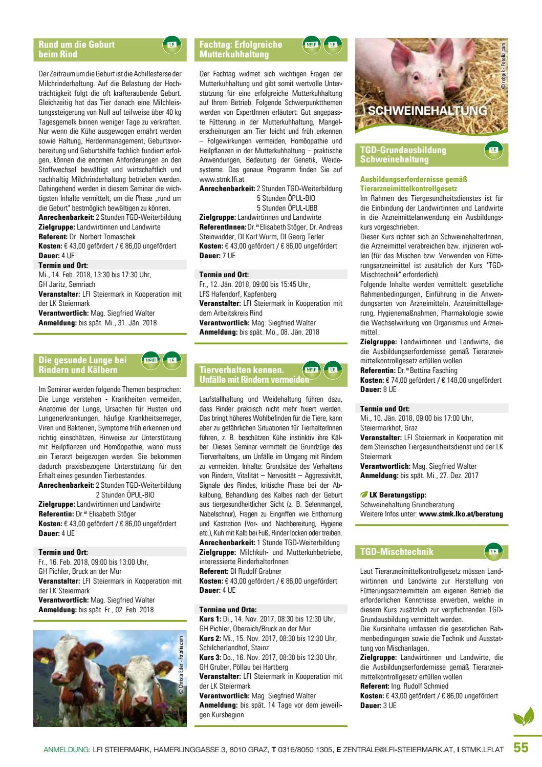 LFI Steiermark Bildungsprogramm 17/18 by LFI Steiermark - issuu