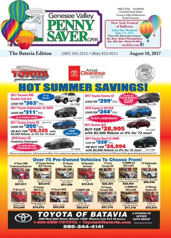 The Genesee Valley Penny Saver Batavia Edition 8/18/17 by