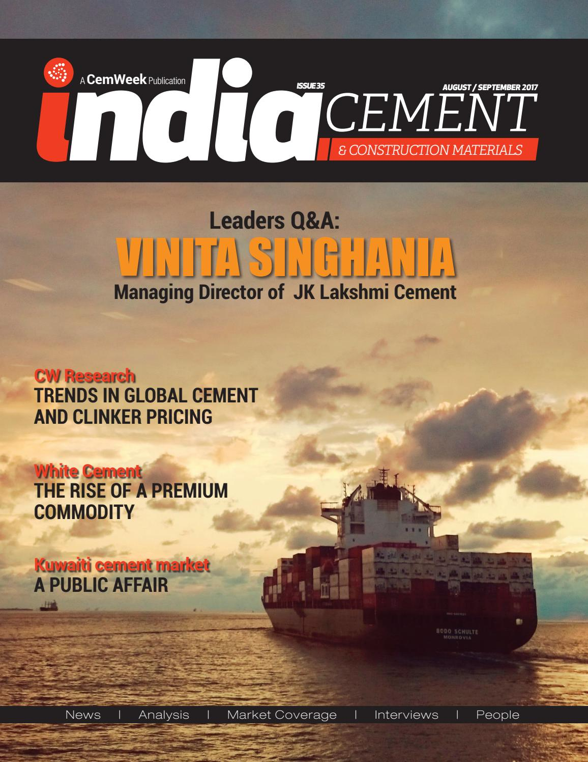 India Cement and Construction Materials journal (ICCM) 37 by