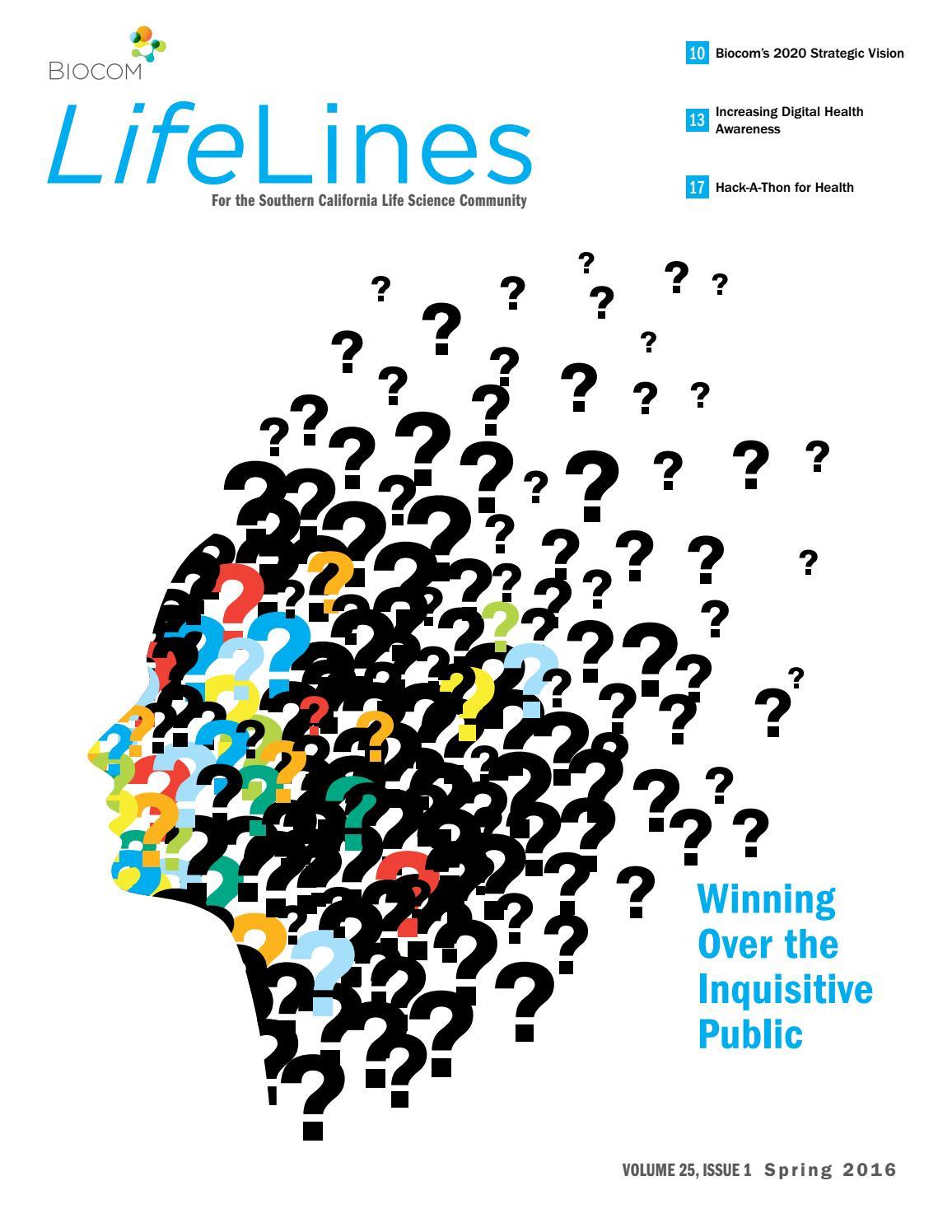 LifeLines Spring 2016 by Biocom - issuu
