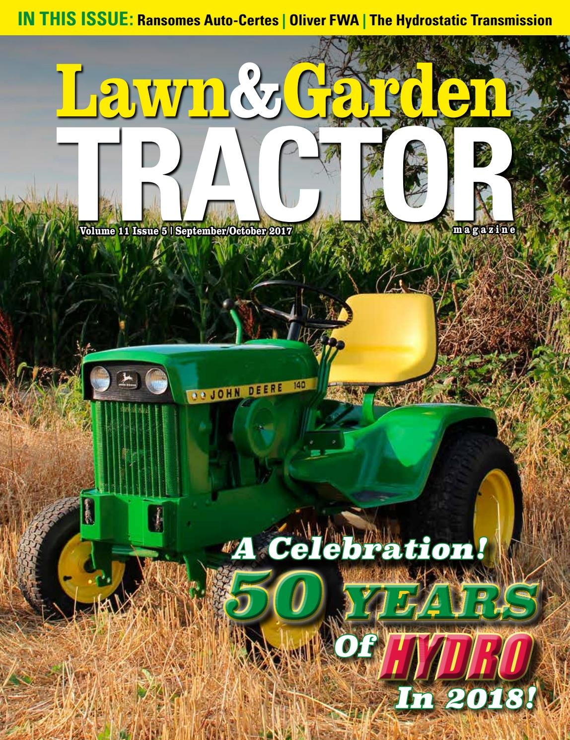 Lawn Garden Tractor Magazine By Sherman Studios Issuu 38quot Page 5 Diagram And Parts List For Mtd Ridingmower