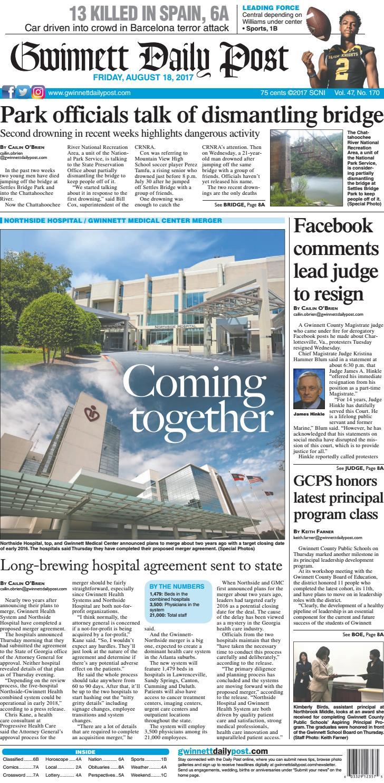 Gwinnett Daily Post August 18 2017 By Gwinnett Daily Post Issuu