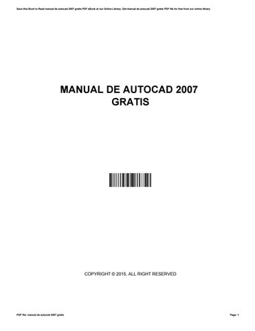 manual de autocad 2007 gratis by danielberg2937 issuu rh issuu com autocad 2010 manual pdf autocad 2007 manual español