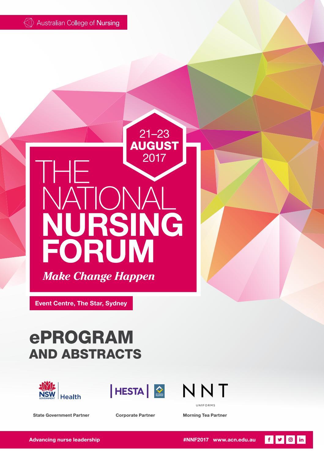 2017 national nursing forum eprogram by acn australian college of 2017 national nursing forum eprogram by acn australian college of nursing issuu fandeluxe Images