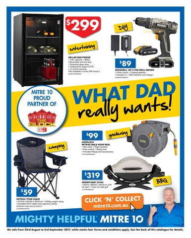 Fabulous Mitre 10 Fathersday Catalogue 2017 By Echo Publications Issuu Theyellowbook Wood Chair Design Ideas Theyellowbookinfo