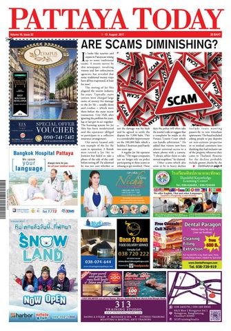 Pattaya Today Vol 16 Issue 22 - 1-15 August 2017