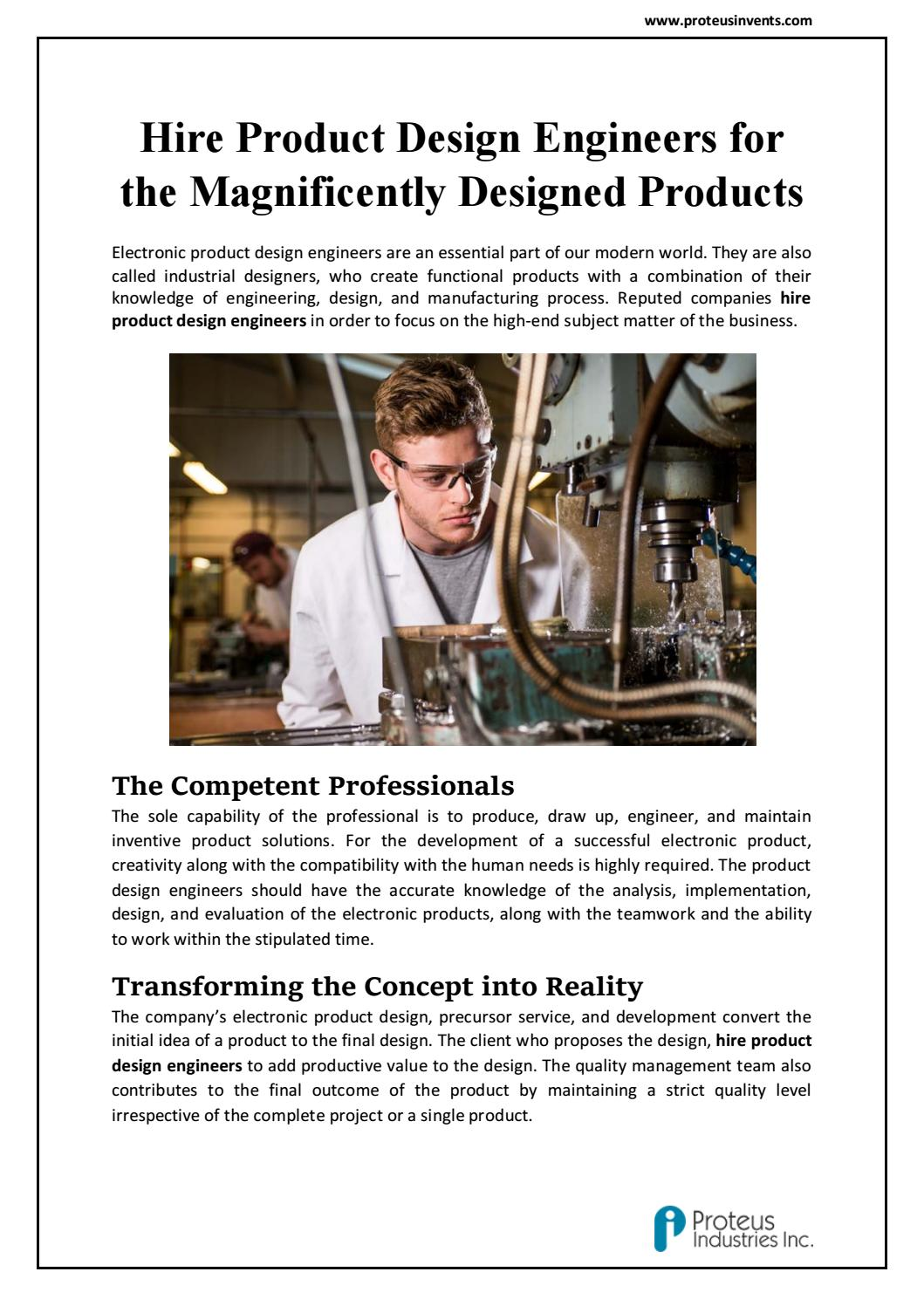 Hire Product Design Engineers for the Magnificently Designed Products