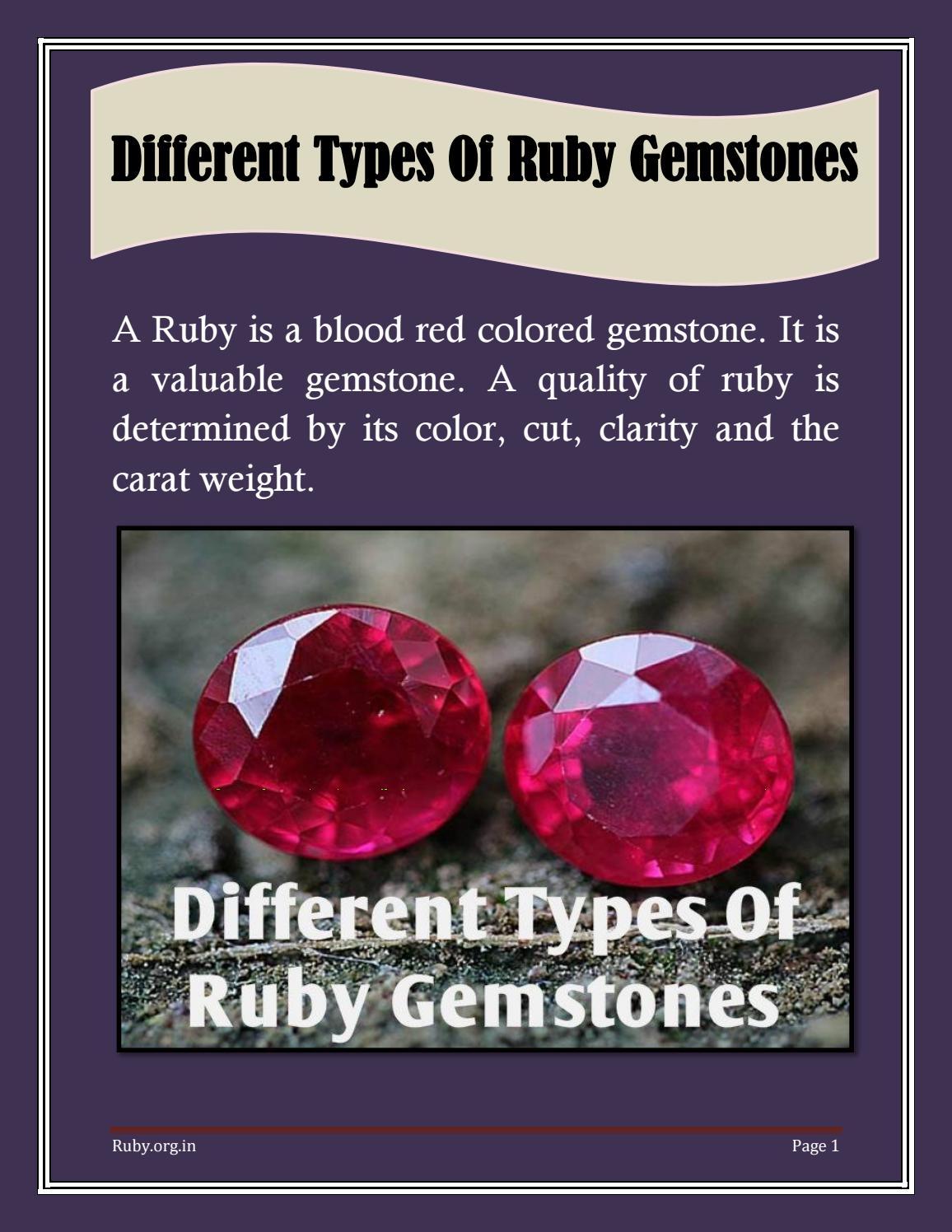 Different Types of Ruby Gemstones by rubygemstone - issuu