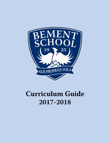 Curriculumguide1718 By The Bement School Issuu