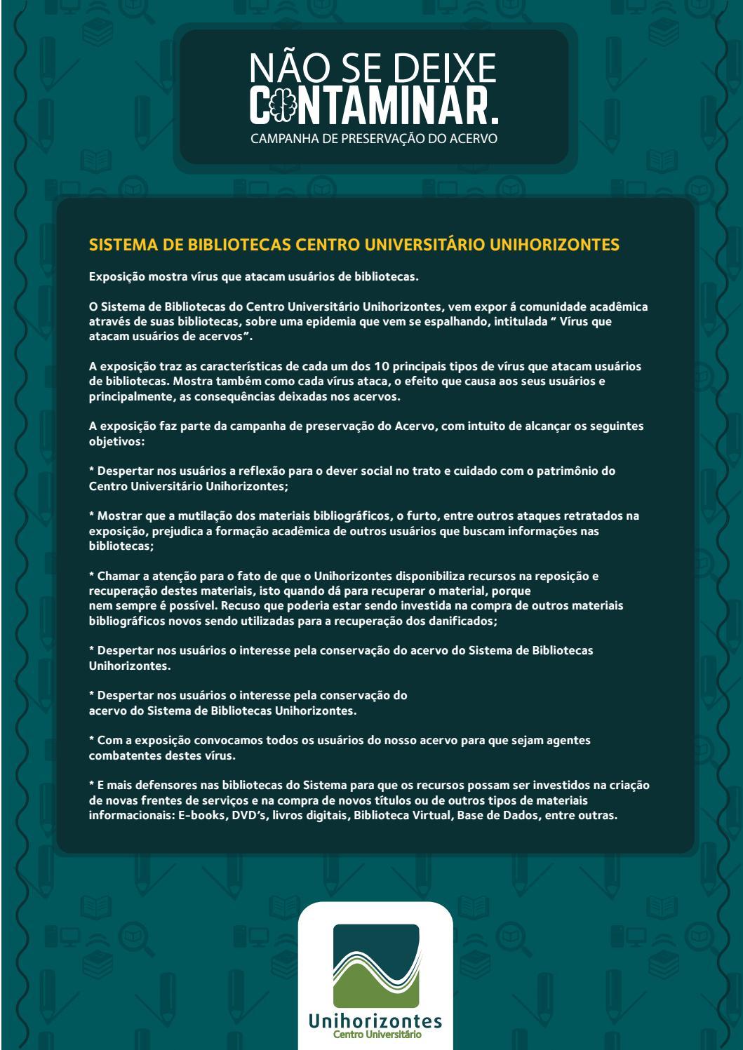 Preservação Do Património Natural: Preservação Do Acervo By Unihorizontes