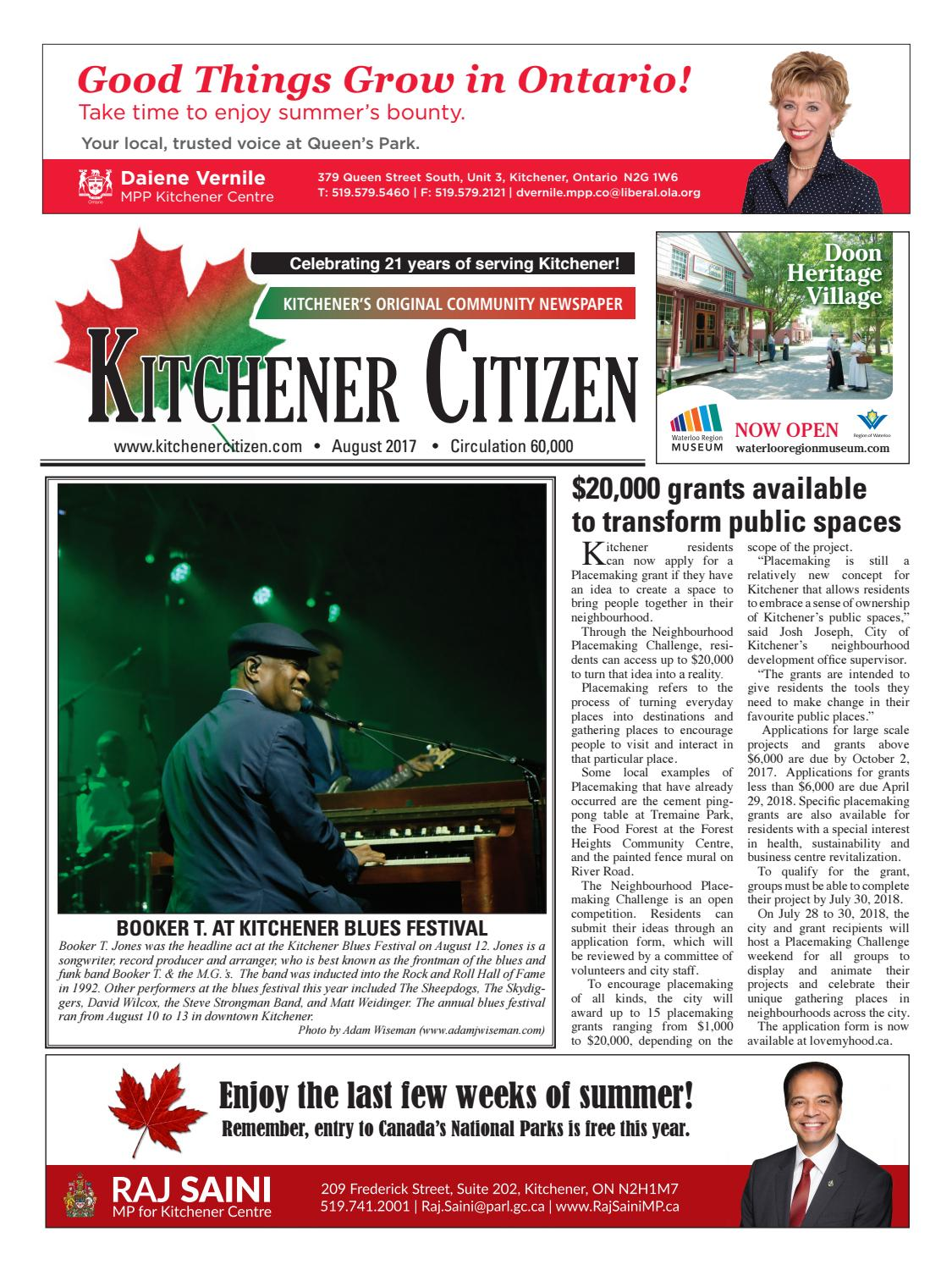 Kitchener Citizen - August 2017 by Kitchener Citizen - issuu