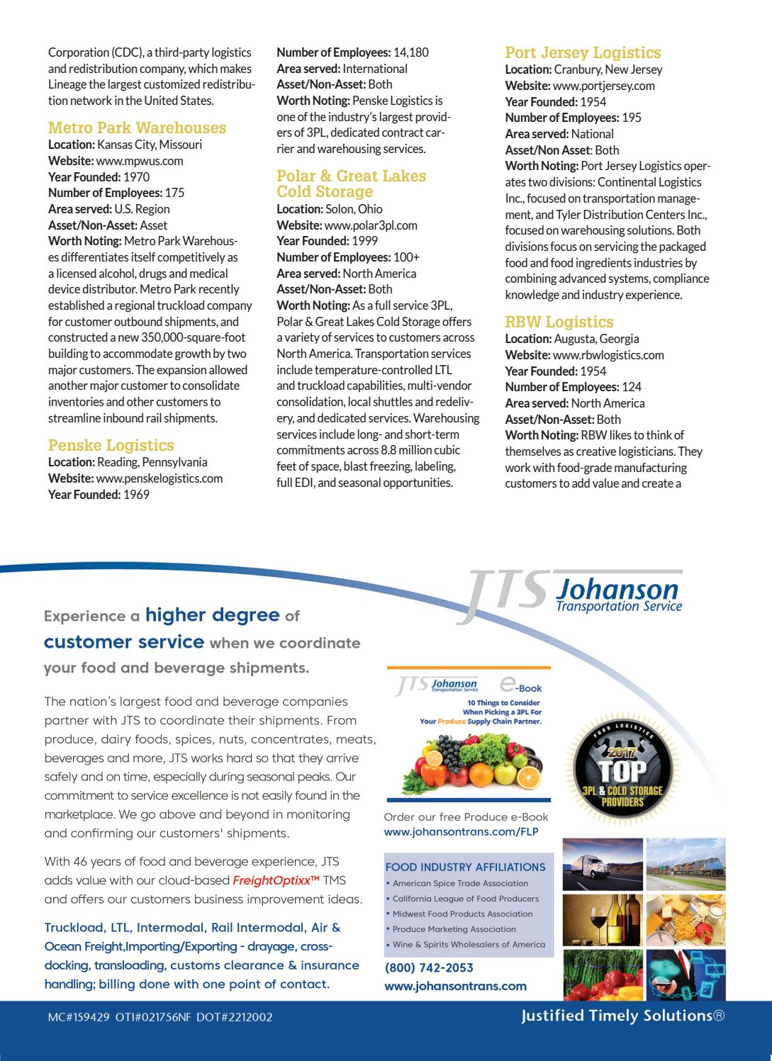 Food Logistics August 2017 by Supply+Demand Chain/Food