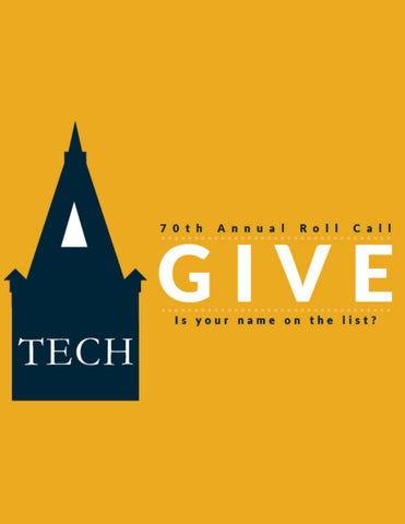 a0c57e73be GTAA 70th Annual Roll Call Donors List - Final FY17 by Georgia Tech ...