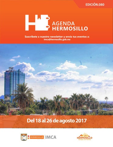 "Cover of ""Agenda Hermosillo 18 agosto 2017"""