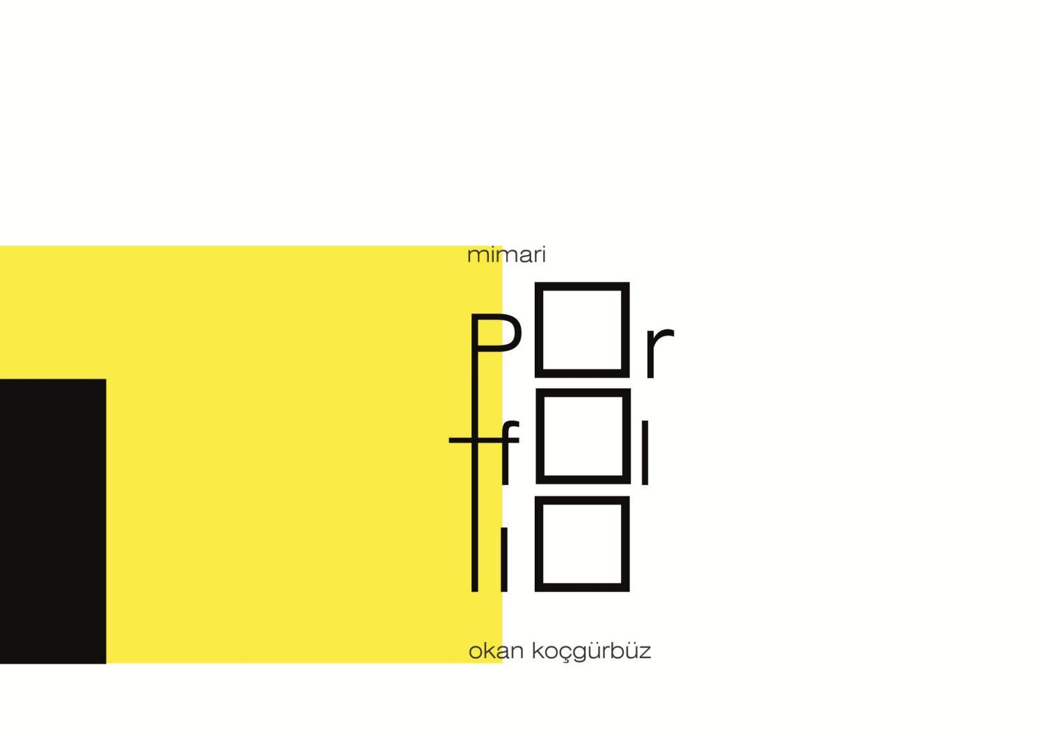 Mimari Portfolyo Architectural Portfolio By Okan Kocgurbuz