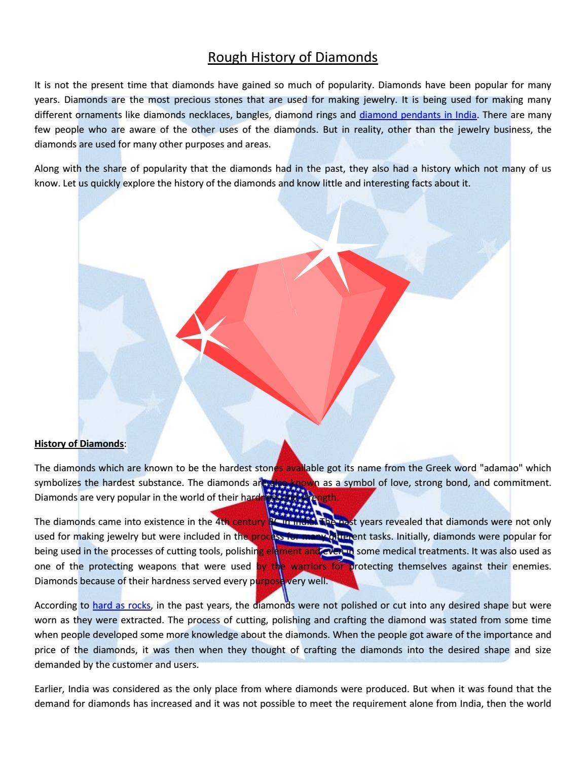 Rough history of diamonds by i love free software issuu biocorpaavc Gallery