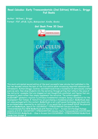 Edition 2nd pdf calculus transcendentals early