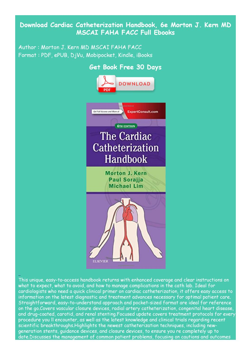 Morton Kern Cardiac Catheterization Handbook Pdf