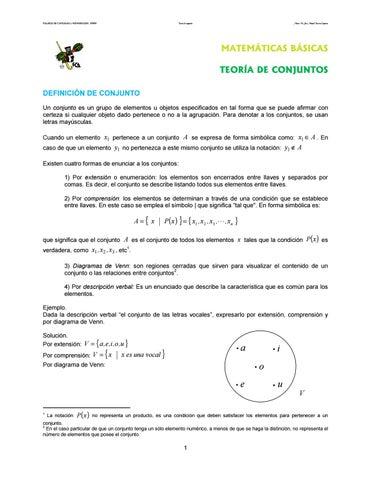 01 unam teora conjuntos by margarita zago issuu page 1 ccuart Choice Image