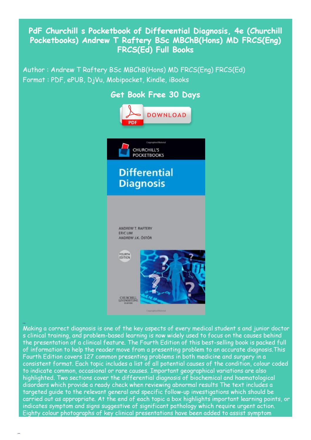 Churchills Pocketbook Of Differential Diagnosis 4th Edition Pdf