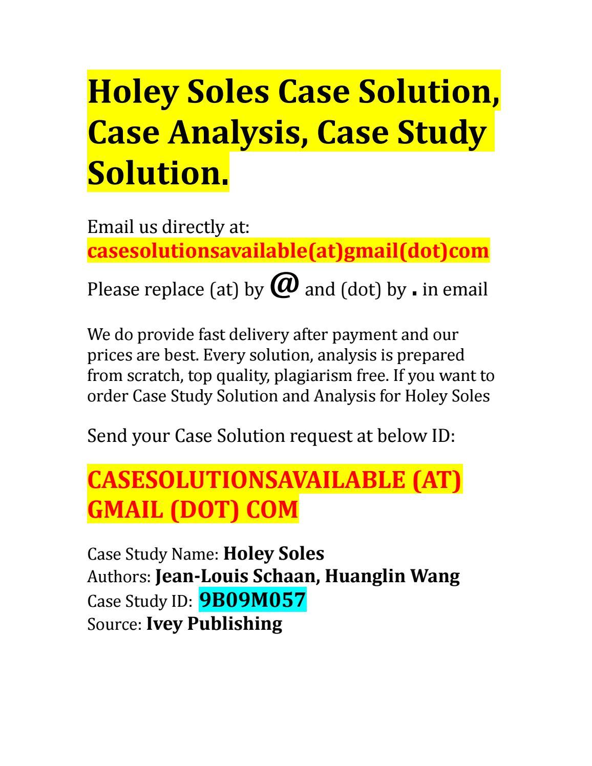 holey soles case study