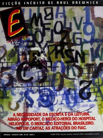 Revista E - Agosto de 1996 - ANO 3 - Nº 2 by Sesc em São Paulo - issuu b8a31f13faf57