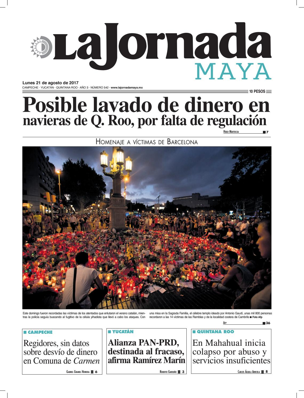 La Jornada Maya · 21 de agosto 693506fd268