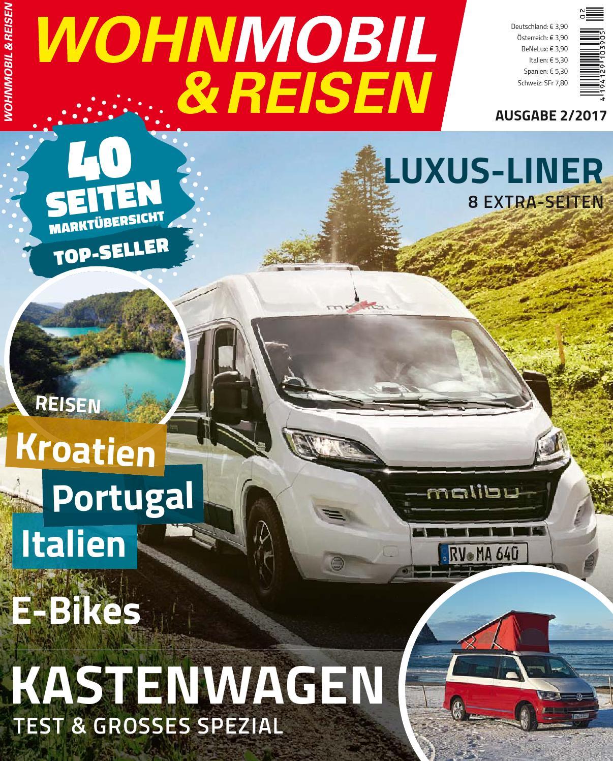 WOHNMOBIL & REISEN 2/2017 by Family Home Verlag GmbH - issuu