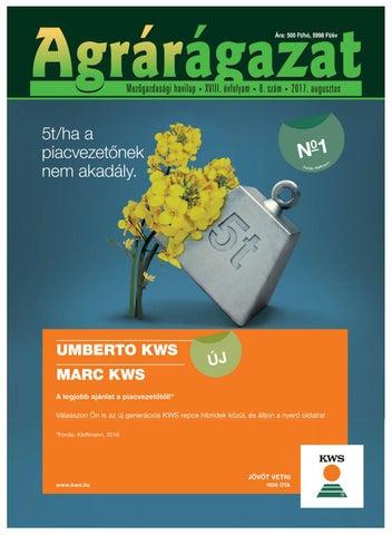 Agrárágazat 2017 augusztus főlapszám by Horizont Média Kft. - issuu cca027f56a