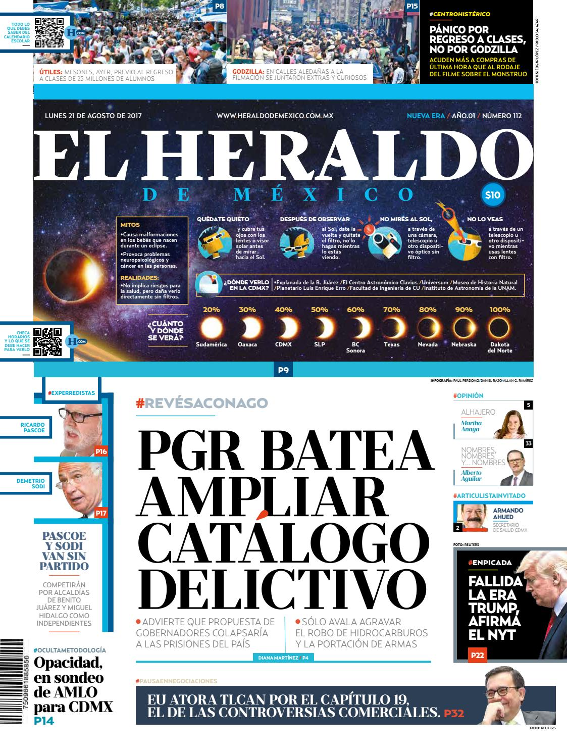 El Heraldo de México 21 de agosto de 2017 by El Heraldo de México ...