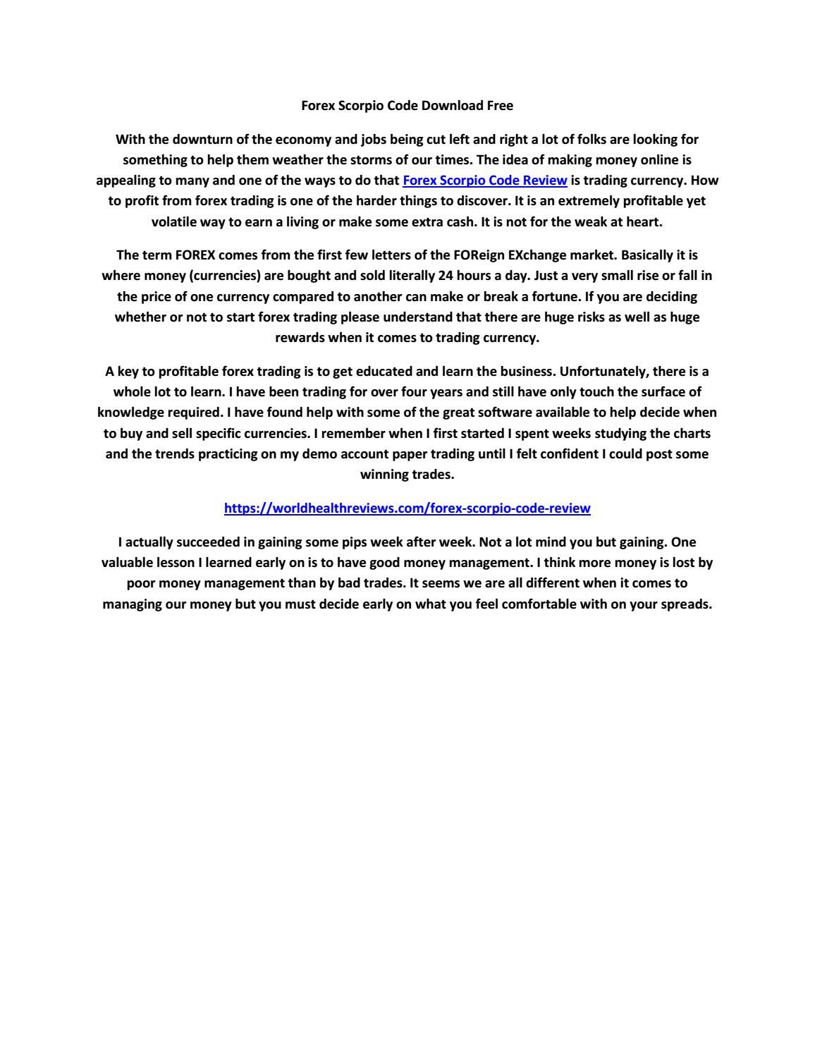 Forex scorpio code free download