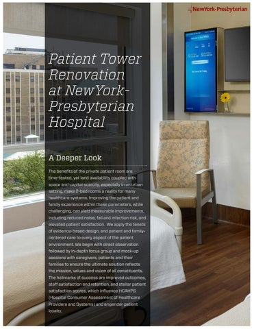 Case Study: NewYork-Presbyterian Milstein Bed Tower