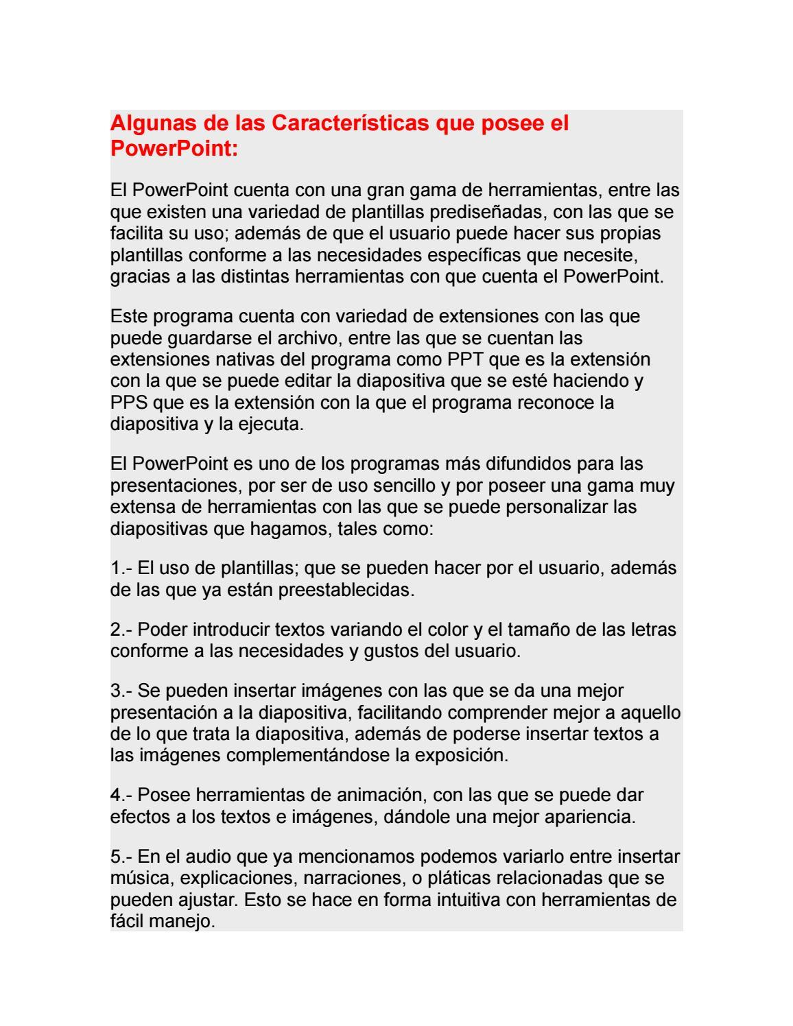 Características De Powerpoint by carlos cuc - issuu