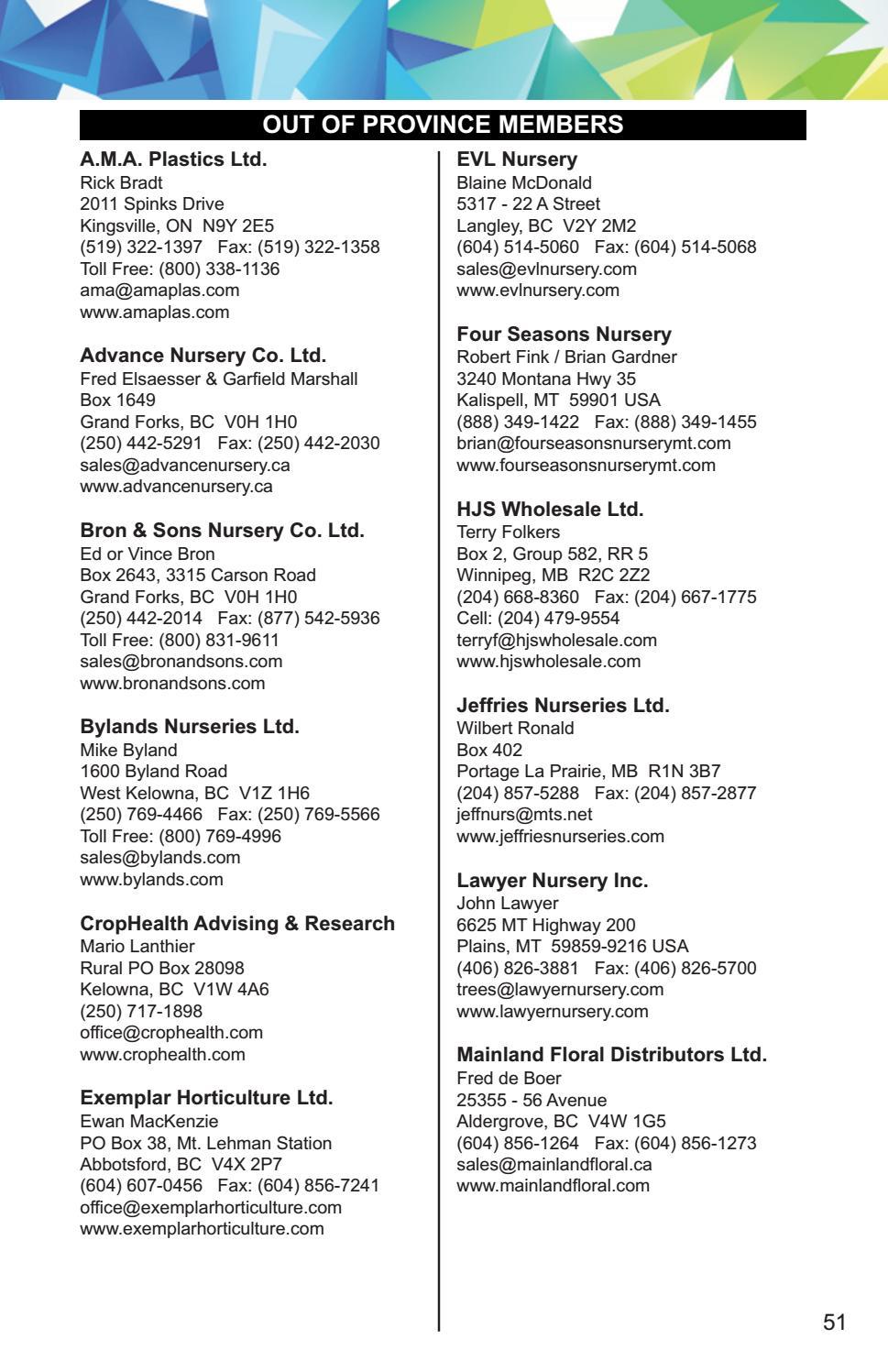 2017 Landscape Alberta Membership Directory