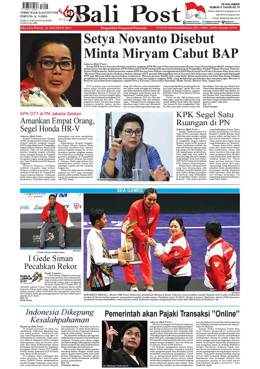 Edisi 22 Agustus 2017 Balipostcom By E Paper Kmb Issuu Kuliner Makanan Rumah Retno Kebab Bdg