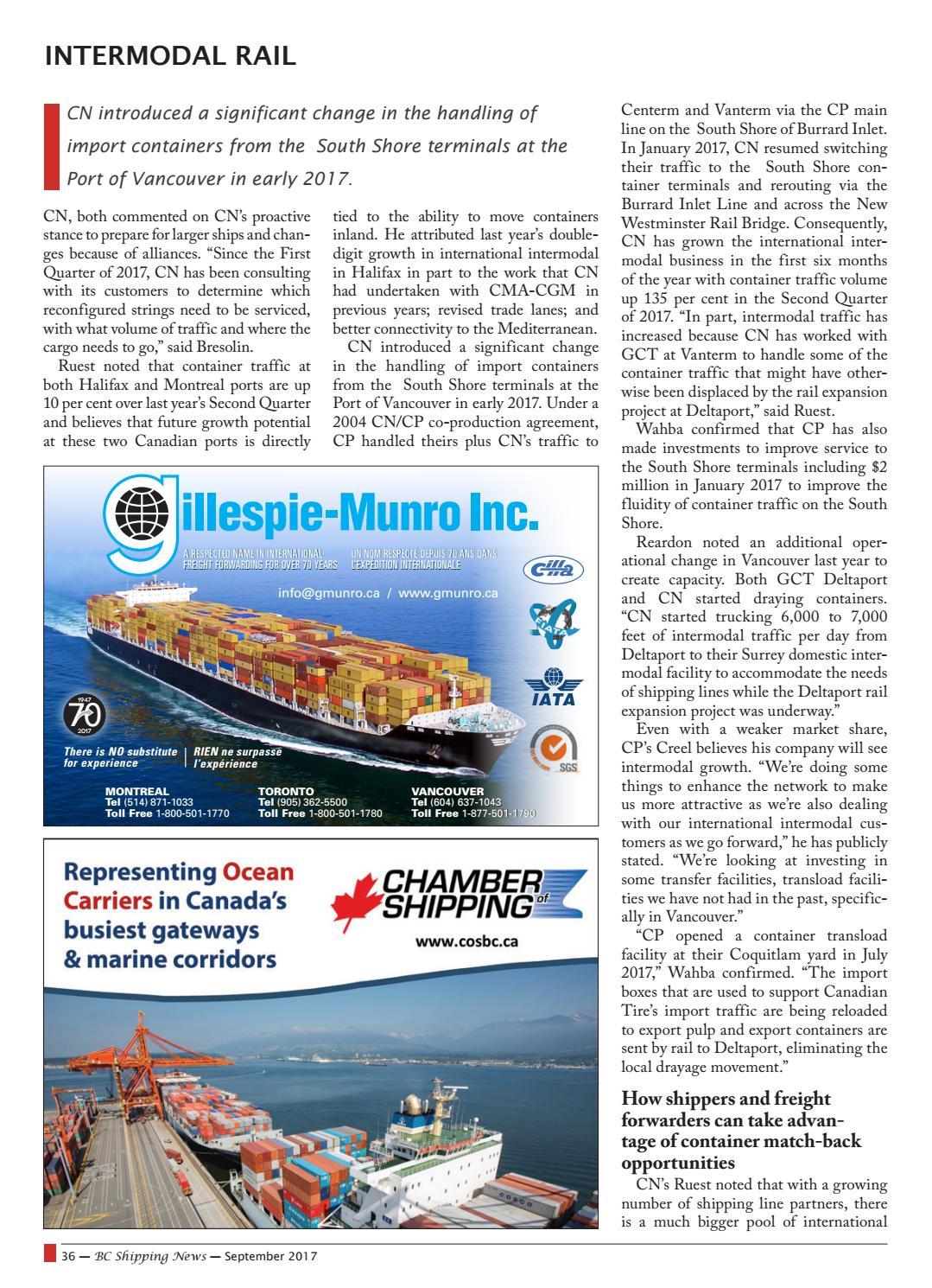 BC Shipping News - September 2017