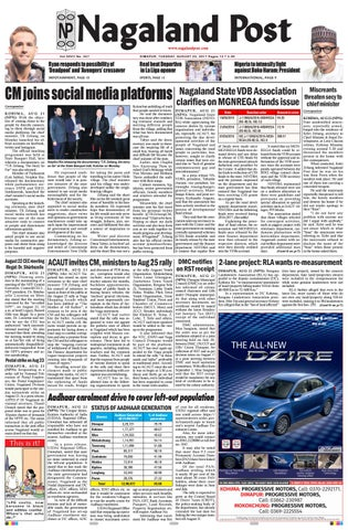 August 22, 2017 by Nagaland Post - issuu