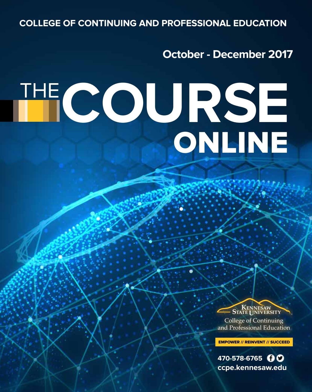 CCPE Online Course Catalog October - December 2017 by KSUCCPE - issuu