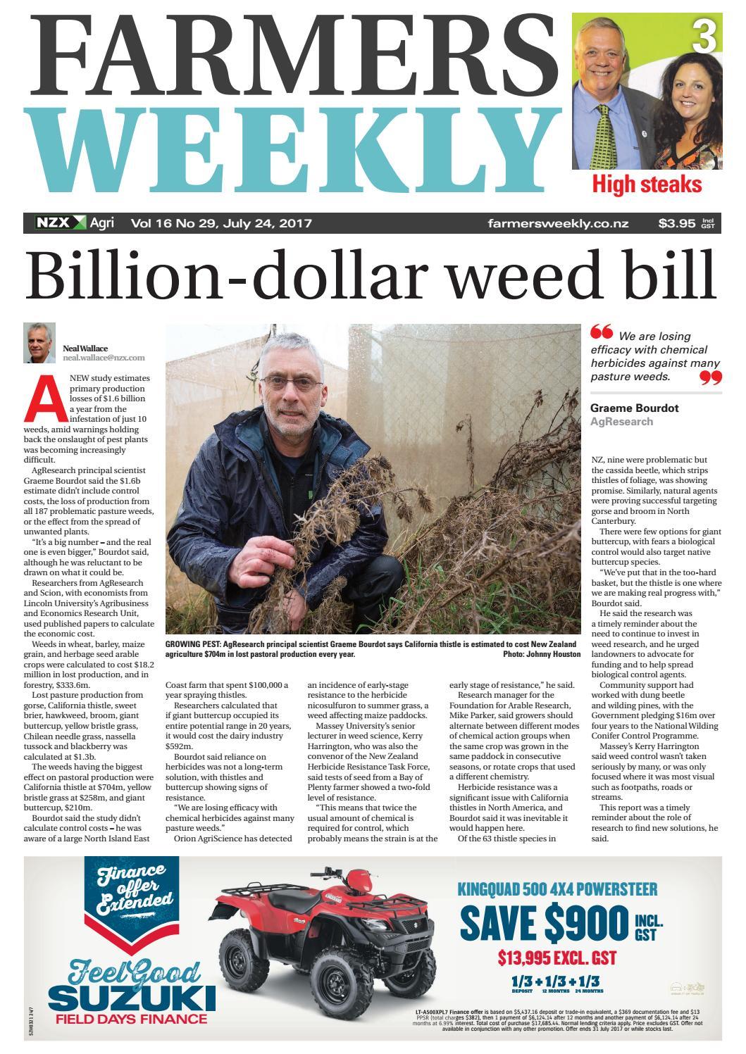 Farmers Weekly NZ July 24 2017 by Farmers Weekly NZ - issuu