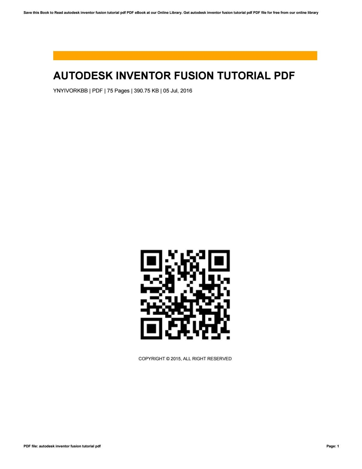 Autodesk inventor fusion tutorial pdf by stevenhunt2648 issuu baditri Image collections