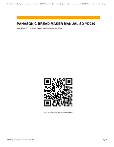 Panasonic automatic bread maker sd bt56p recipe by luke issuu cover of panasonic bread maker manual sd yd250 fandeluxe Choice Image