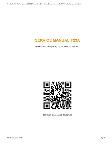 service manual f23a various owner manual guide u2022 rh justk co