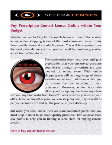 fdbb482d90b Buy Prescription Contact Lenses Online within Your Budget Whether you are  looking for disposable lenses or prescription contact lenses
