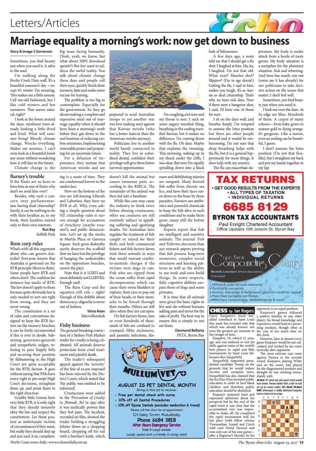 Byron Shire Echo – Issue 32 11 – 23/08/2017