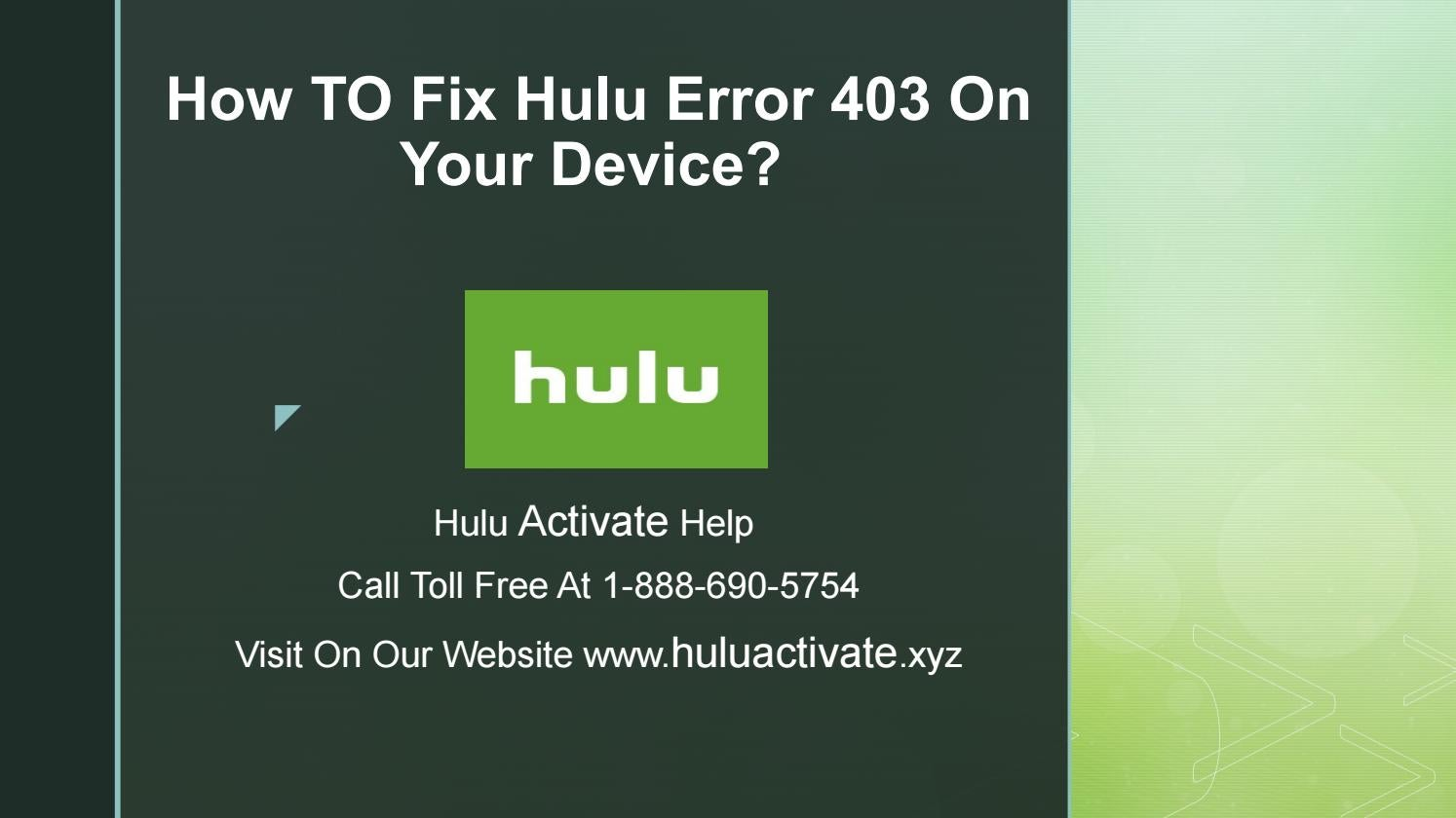 How to fix hulu error 403 on your device? by Hulu Activate - issuu