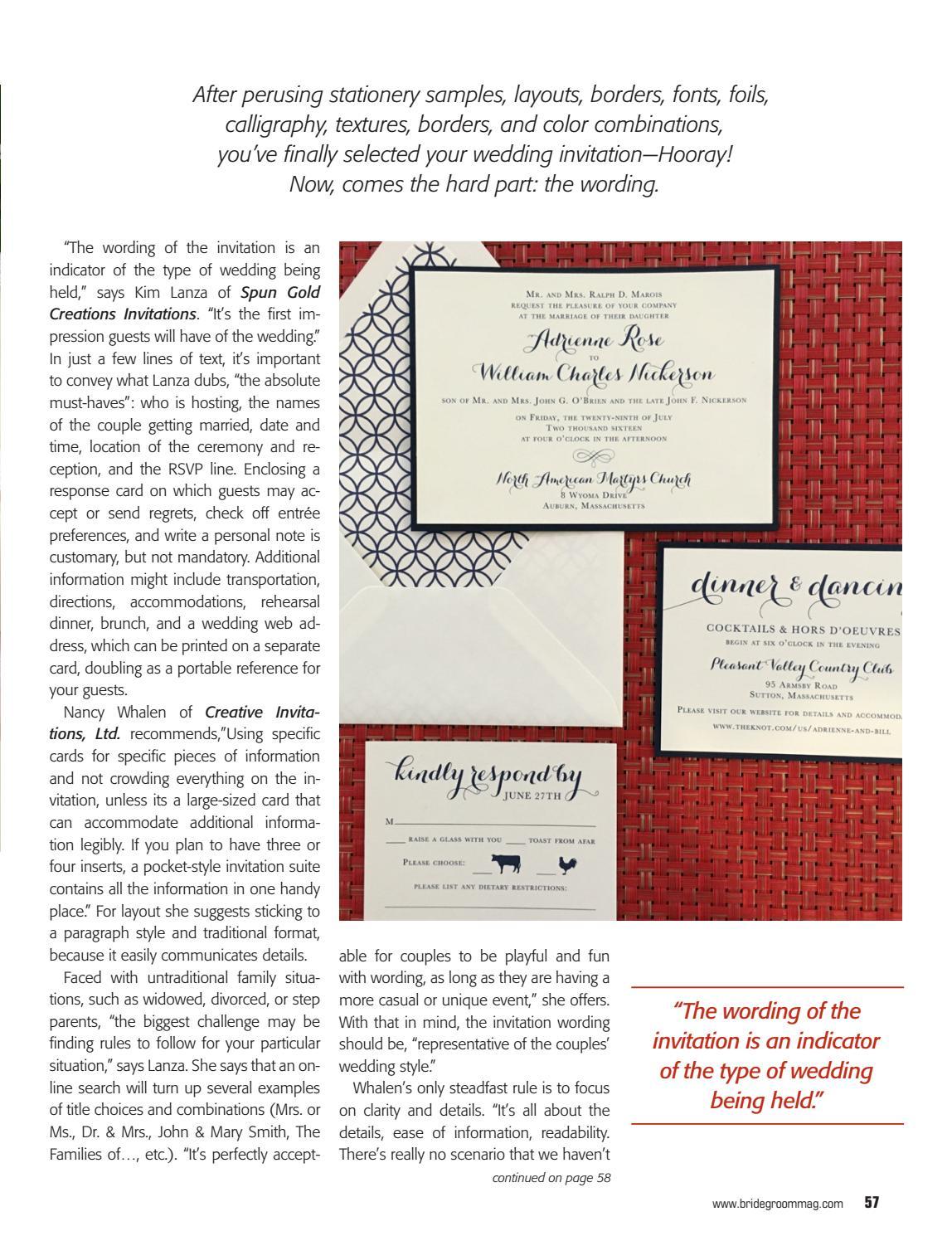 Bride groom fall 2017 by bride groom magazine issuu stopboris Gallery